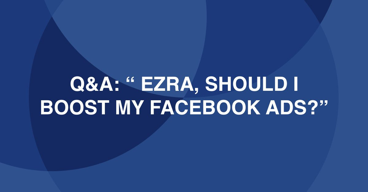 Q and A with Ezra