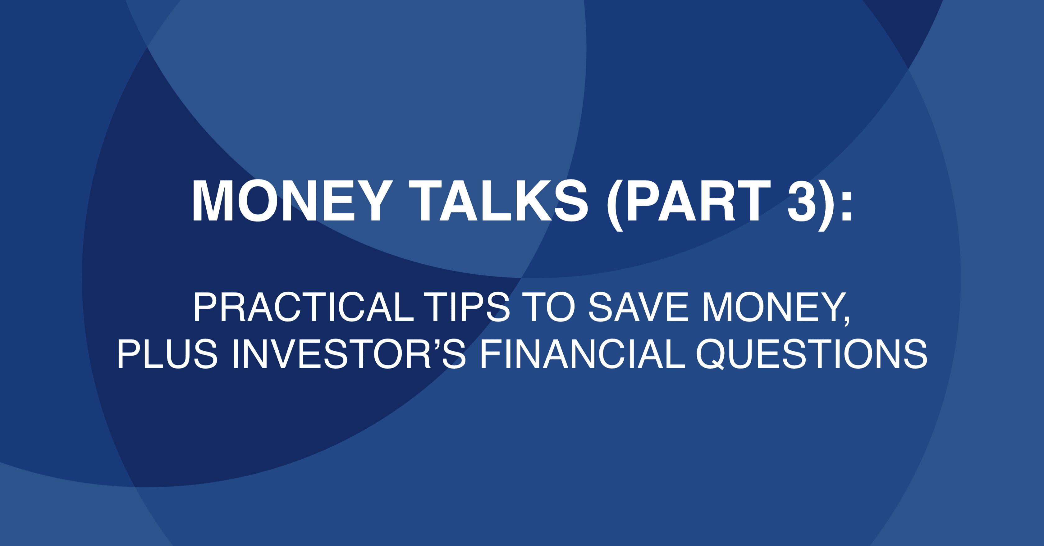Money Talks (Part 3)
