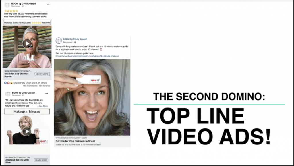 Facebook video ads with text,