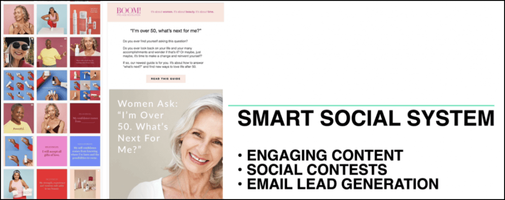 Ezra's Smart Social System he uses to create content, run contests and generate email leads.