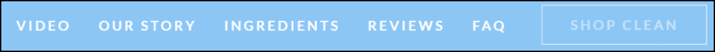 Example of a website navigation menu.
