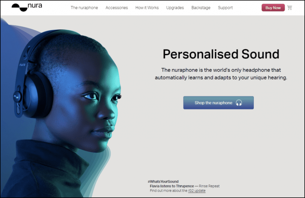 Example of a mini-site for a brand that only sells one product.