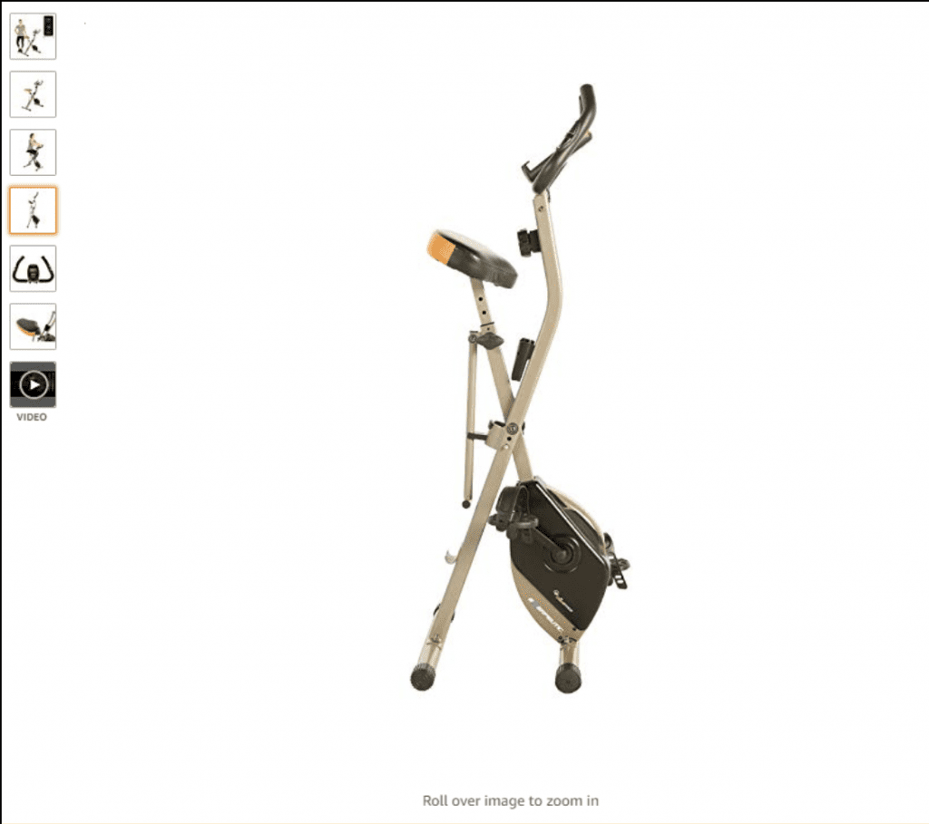 Example of a carousel including images of the product from multiple angles, from Amazon.